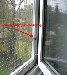 Befestigung des Fenstergitters ohne bohren #catsdiyikea