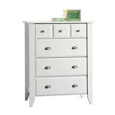 Sauder Shoal Creek 4-Drawer, White
