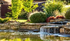 Your garden may already be your favorite place to relax with a good book, but you can make it even better by adding a small garden waterfall to it. Take a look at our garden waterfall ideas to get inspired and design the mini waterfall of your dreams! Small Garden Waterfalls, Small Backyard Ponds, Backyard Garden Landscape, Pond Landscaping, Backyard Water Feature, Landscaping With Rocks, Backyard Ideas, Garden Ideas, Pond Design