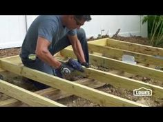 How to Build a Shed Foundation - YouTube