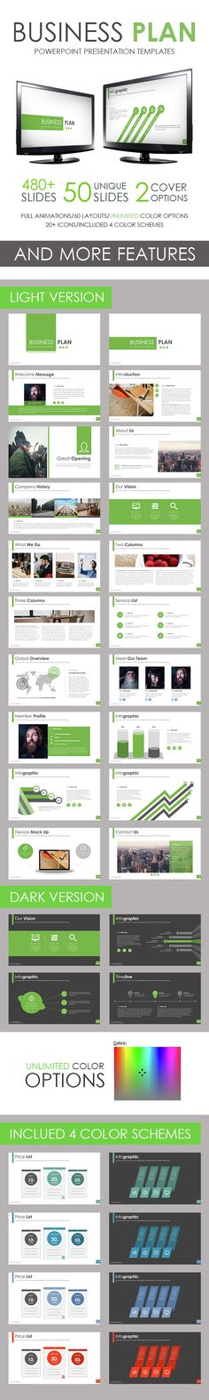 Modern Business Plan Powerpoint Template Business Powerpoint