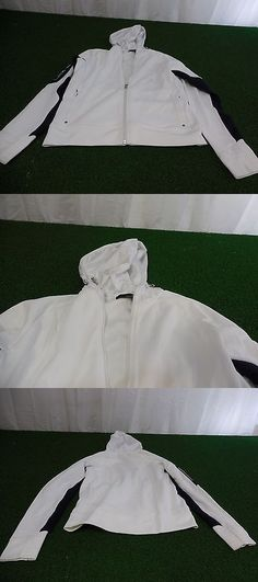 Coats and Jackets 181145: New Womens Ralph Lauren Golf Rlx Full Zip Jacket (White) Size Small Rlx BUY IT NOW ONLY: $59.99