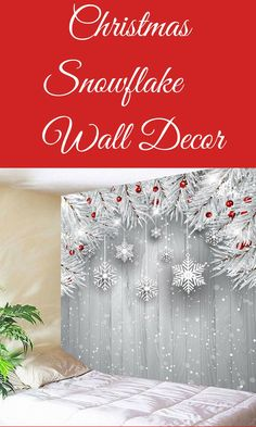 Christmas Decorations Wall Decor Christmas Snowflake Printed Tapestry #ad Unique Christmas Gifts, Christmas Gift Guide, Beautiful Christmas, Christmas Time, Merry Christmas, Christmas Tablescapes, Christmas Mantels, Christmas Snowflakes, Tree Decorations