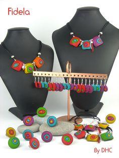 Des couleurs chaudes pour une nouvelle collection de bijoux originaux... C'est Fidela ! Colliers, bagues, boucles d'oreilles, En...