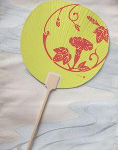 Japanese fan or Uchiwa  morning glory by WeAllShareTheSameSky