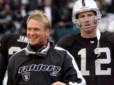 "Former Raiders QB Rich Gannon says Derek Carr and Jon Gruden ""are off to a terrific start. Raiders Pics, Oakland Raiders Images, Raiders Stuff, Nfl Raiders, Oakland Raiders Football, Raiders Baby, Football Boys, Football Players, Football Stuff"