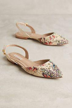 Raphaella Booz Jardim Flache Schuhe mit Schmucksteinverzierung