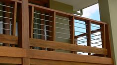 Custom made. Dressed timber and stainless steel rod balustrade. Yes, it's expensive!