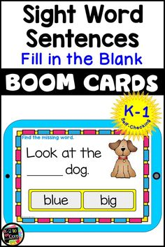 Kindergarten and first grade students need lots of practice with sight words! This deck of 30 BOOM digital task cards is an engaging, no prep, no paper method of providing that reading work for your beginning and emergent readers…and they're self-checking! All 40 Pre-Primer sight words are used. These Boom Cards can be used in literacy centers, during whole group reading instruction, and for practice in guided reading groups.