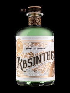 Absinthe bottle... ;) oh yes, my husband and i had a small bottle of absinth in germany... and drank the way you are supposed to... and nobody worned me that it tasted like (strong) black liquoreice...eeew lol