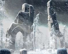 Image result for ruins winter