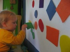 Make a Felt Board for Your Toddler: Easy to do and lots of fun.