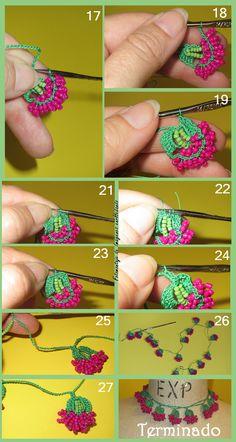 Watch The Video Splendid Crochet a Puff Flower Ideas. Phenomenal Crochet a Puff Flower Ideas. Crochet Video, Bead Crochet, Irish Crochet, Diy Crochet, Crochet Crafts, Crochet Projects, Crochet Earrings, Crochet Puff Flower, Crochet Flowers
