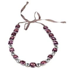 Georgian Amethyst and White Paste Rivière Necklace 1