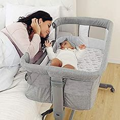 Perfect for your Baby and Nursery TCBunny 2-in-1 Baby Bassinet & Bedside Sleeper, Adjustable Portable Crib Bed for Infant/Newborn Baby, Grey,TCBunny 2-in-1 Baby Bassinet & Bedside Sleeper, Adjustable Portable Crib Bed for Infant/Newborn Baby, Grey, Breathable Mesh: Two-side mesh allows parents to observe the baby's status anytime. The zipper design makes the mattress cover and all crib fabrics... Best Bassinet, Bedside Sleeper, Grey Crib, Diaper Bag Backpack, Travel Backpack, Best Crib, Portable Crib, Crib Bedding, Baby Sleep