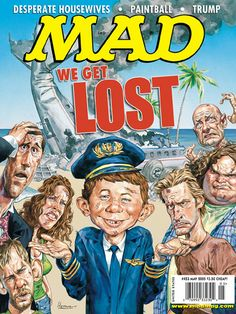 "You think ""Lost"" is confusing? ""Mad"" spoofs the show! Mad Magazine, Magazine Covers, Alfred E Neuman, American Humor, Mad Tv, Culture Pop, Mad World, You Mad, Best Tv Shows"