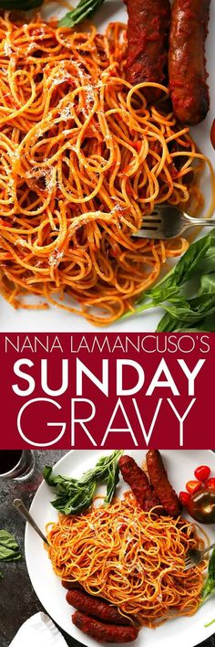 This Authentic Italian Sunday Gravy is what I grew up eating every week. Nana's tomato meat sauce holds a fond place in my heart, and her recipe lives on to this day in my recipe box. It's my most requested recipe and today I'm sharing it with you.   platingsandpairings.com