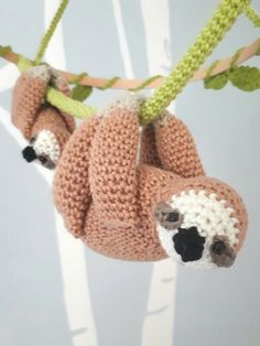 Sloth nursery mobile