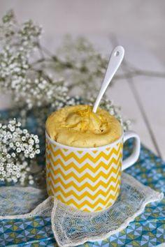 SANS GLUTEN SANS LACTOSE: Mug cake au citron sans gluten, sans lactose, sans oeufs