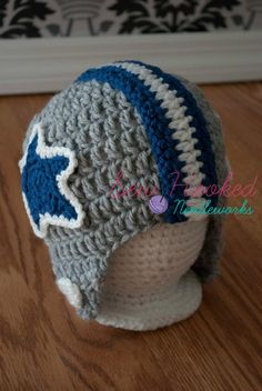 Crochet Football Team Inspired Helmet (Pick Your Team or Request a New One). $17.00, via Etsy.
