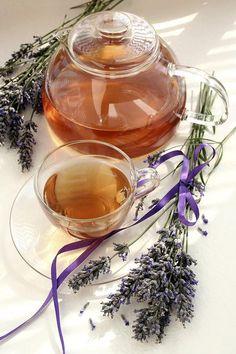 Herbal Tea And Lavender.