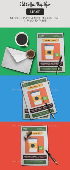 Flat Coffee Shop Flyer
