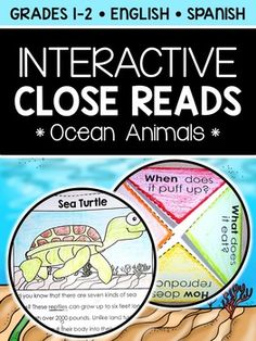 This downloads in English plus a FREE Spanish version. It has a variety of close reading resources for your ocean animal lessons or unit. It includes a text code reference sheet, 5 thematic texts and extension activities for your interactive notebooks.