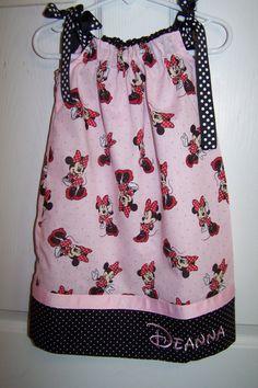 Monogrammed Minnie Mouse Pillowcase Dress