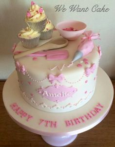 Pastry themed cake