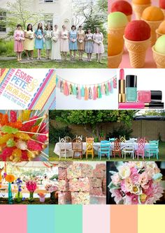 Candy Coloured Bridesmaid Dresses Via Green Wedding Shoes picture by Love