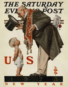 1943 Saturday Evening Post HAPPY NEW YEAR