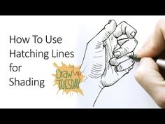 Draw Tip Tuesday: How To Use Hatching Lines For Shading - YouTube