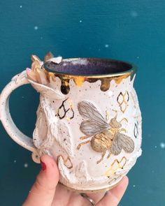 Ceramic Pottery, Ceramic Art, Cool Mugs, Pottery Painting, Clay Crafts, Clay Art, Tea Set, Art Inspo, Lauren Lewis