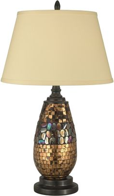 "0-175395>26""""h 1-Light 3-Way Tiffany Table Lamp Dark Antique Bronze"