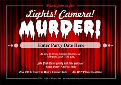 Download an invitation to a Hollywood murder mystery party