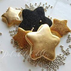 #polishededibles #customcookies #2017 #countdown #stars