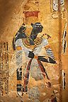 Photo of an Egyptian painting on stucco of the defied queen Ahmose-Nofretari. Cat No Egyptian Temple, Egyptian Pharaohs, Ancient Egyptian Art, Sculpture Art, Sculptures, Virtual Art, Stock Art, Medieval Art, Ancient Civilizations