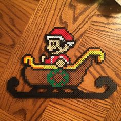 Santa Mario perler beads by xbezerkerx