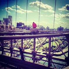 Terrifying, Heartbreaking Photo Of Attempted Suicide On BrooklynBridge  Before the man was rescued, this Instagram was amazingly snapped of a NYPD officer talking him down.