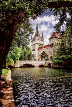 'Fairy tale from Budapest', The moat and entrance to the Vajdahhunyad Castle by Mark Kats Hungary