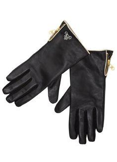 L:C Babe   Maison Scotch Racing Leather Gloves