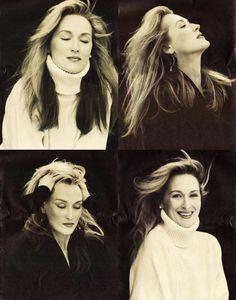 I love Meryl Streep. She is so beautiful and talented