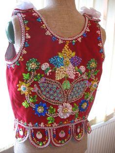Costume of western Krakow region- the Sukiennickie gorset.