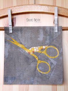 Vintage scissors paper piecing PP pdf pattern by ShapeMoth on Etsy