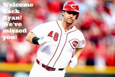"Ryan Ludwick returned to the #Reds lineup on Monday. Let's all take a moment and collectively say ""Welcome Back Ryan, We've missed you!"" www.reds.com"