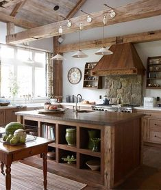 Rustic Kitchen Design, Home Decor Kitchen, Country Kitchen, New Kitchen, Kitchen Ideas, Kitchen Designs, Wooden Kitchen, Updated Kitchen, Kitchen Island