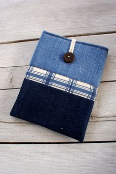 Apple iPad Sleeve Case Cover padded  denim  pocket by sandrastju Ipad Tok 5e332f9a03