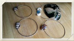 Sterling Silver 16g bangle w/Seashells, Glass great price by Panache808Designs, $25.00