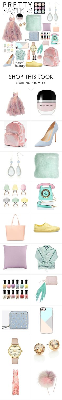 """Pastel beauty"" by elizabeth-henson-dancer ❤ liked on Polyvore featuring interior, interiors, interior design, home, home decor, interior decorating, Marchesa, Marc Jacobs, Boohoo and Schutz"