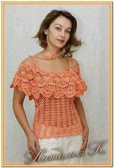 Fabulous Crochet a Little Black Crochet Dress Ideas. Georgeous Crochet a Little Black Crochet Dress Ideas. Blouse Au Crochet, Crochet Bolero, Black Crochet Dress, Crochet Shirt, Crochet Cardigan, Crochet Lace, Crochet Tops, Crochet Designs, Crochet Patterns